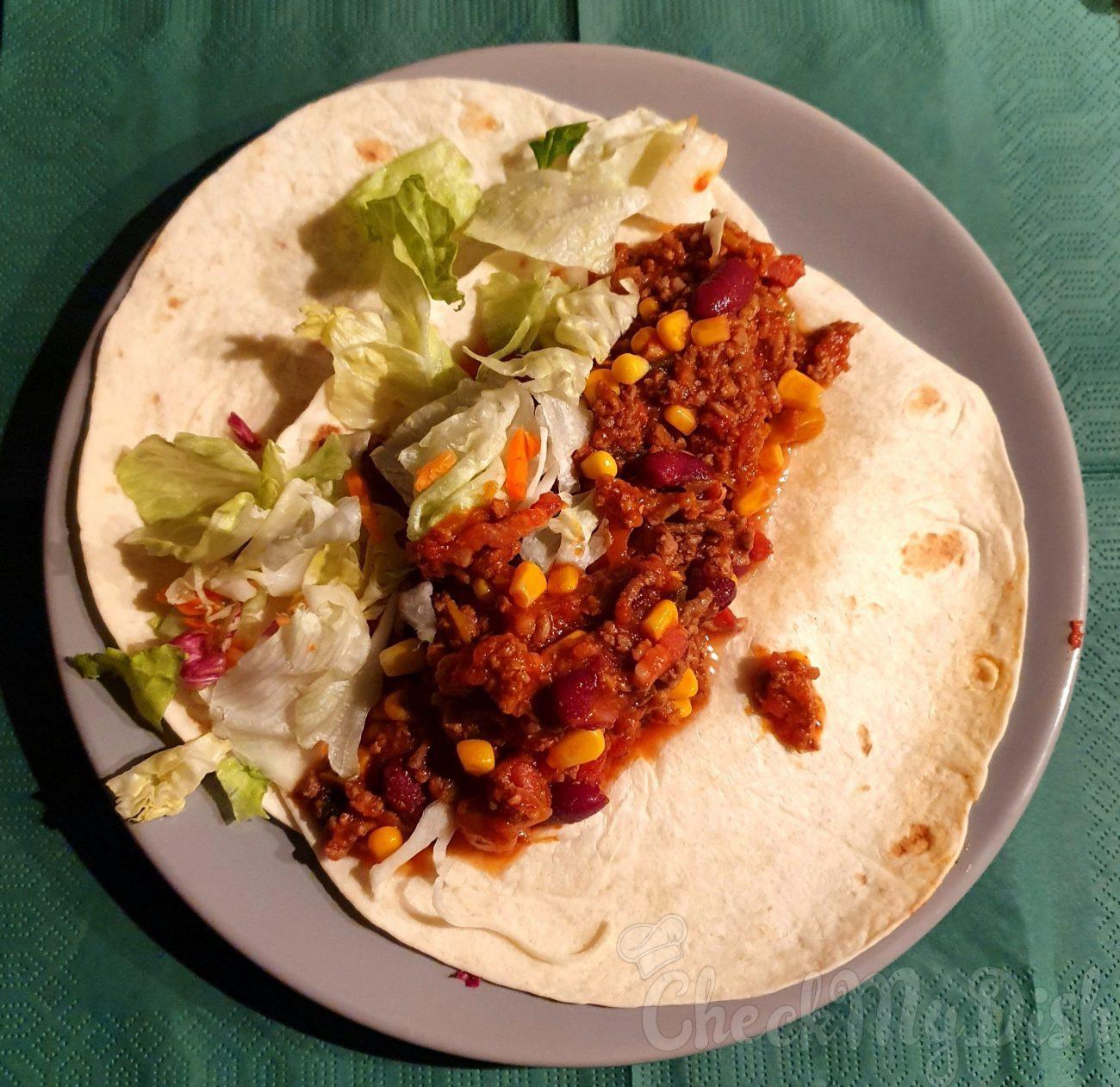 Mexicaanse wrap met gehakt