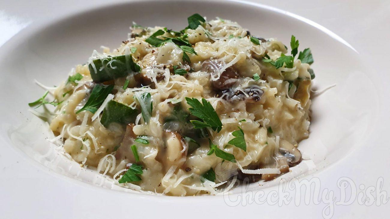 Romige risotto met champignons